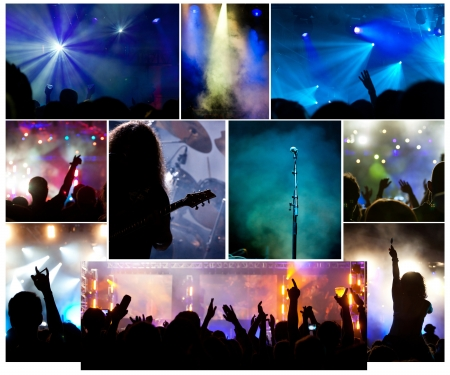 Collage of concert photos photo