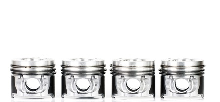 Pistons isolated on white  photo