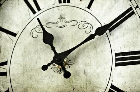 Close up on vintage clock  photo