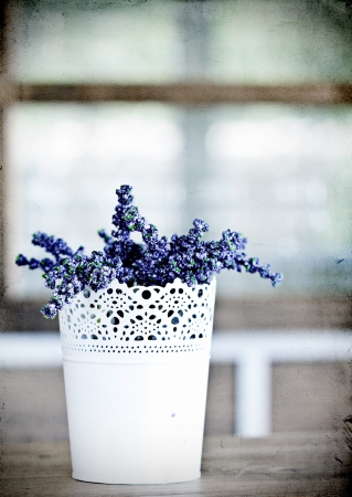 Lavender - rustic, vintage decoration Stock Photo - 20980670