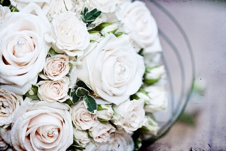 bridal bouquet: Vintage photo of white wedding bouquet