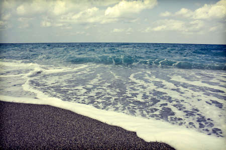 Vintage seascape in Grece photo