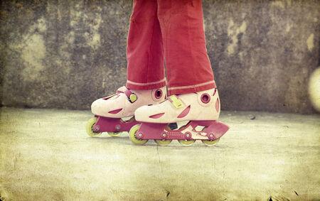 rollerskates: Girl on rollerskates