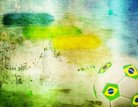 Vintage photo of soccer ball OF Brazil 2014 photo