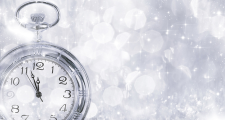 Clock at New Years Eve photo