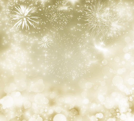 color of year: Fireworks at New Year and copy space Stock Photo