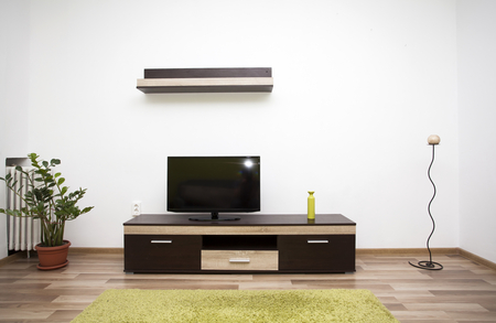 modern living: Modern and simple living room interior
