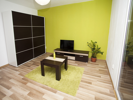 modern living room: Modern and simple living room interior