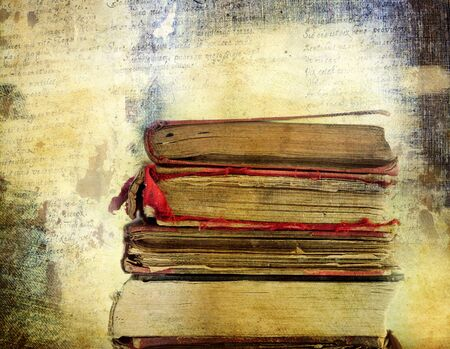 back training: Vintage background with old books. Back to school concept