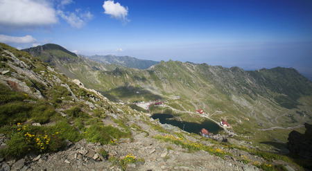 balea: Landscape of Balea Lake, Fagaras Mountains, Transylvania, Romania
