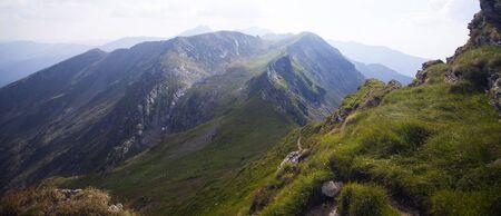 Landscape of Fagaras mountains in Carpathians, Transylvania, Romania