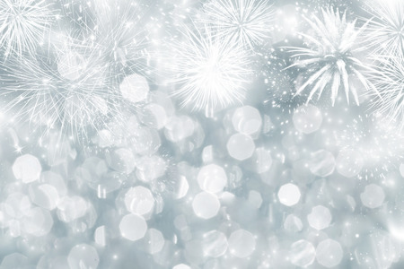 new years eve background: Fireworks at New Year and copy space Stock Photo