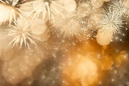 コピー スペース、新年の花火 写真素材