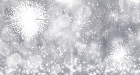 nowy rok: Fajerwerki na Nowy Rok - wakacje w tle