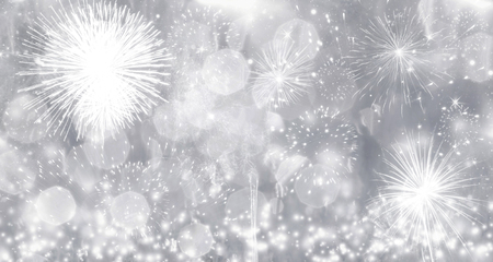 Fireworks at New Year - holiday background