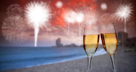 浜市では新年のお祝い 写真素材