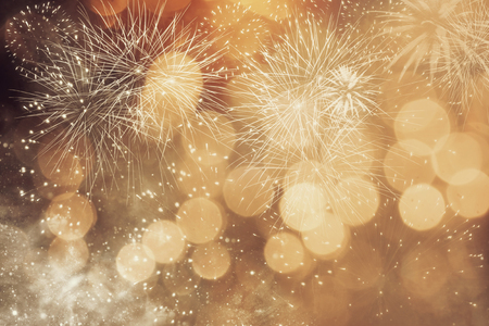 Abstracte achtergrond van Kerstmis met vuurwerk Stockfoto