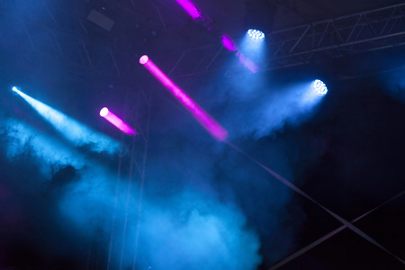 Colorful stage lights