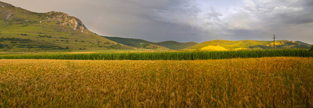 Piatra Secuiului, Szekelyko mountain in the summer sunset, Rimetea, Transylvania, Romania Stock Photo