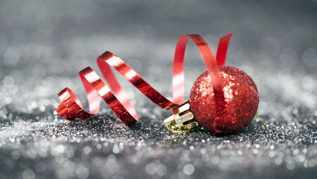 Sparkling Christmas background with Christmas decoration Stock Photo