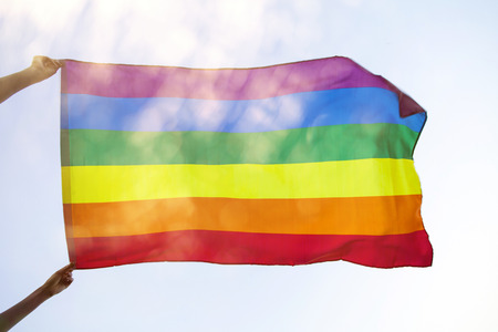 LGBt flag blown in the wind