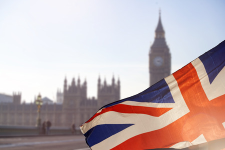 Brexit concept - image of Big Ben and UK flag Banque d'images