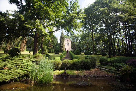 Laura's Hermitage, Sigurta Park, Valeggio sul Mincio, Verona, Italy Stockfoto - 123245383