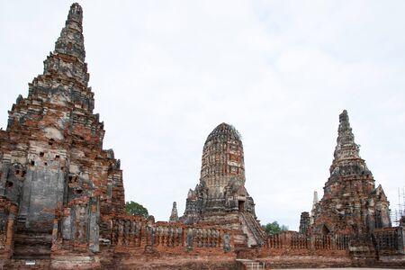 Old Temple Wat Chaiwatthanaram of Ayutthaya Province( Ayutthaya Historical Park ), Thailand