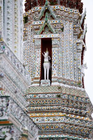 Details of Wat Arun temple in Bangkok, Thailand.