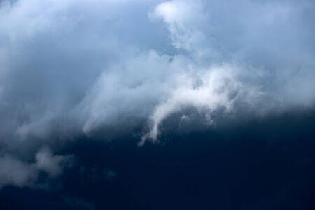Dramatic sky background. Stormy clouds in dark sky. 版權商用圖片