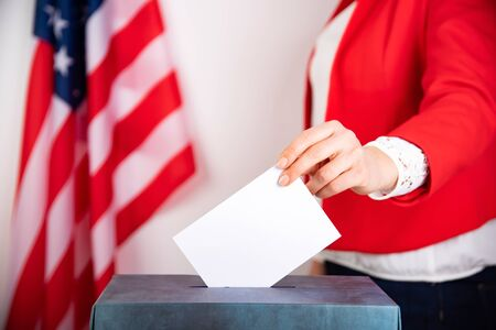 United States elections 2020 concept. People voting for general election in United States.