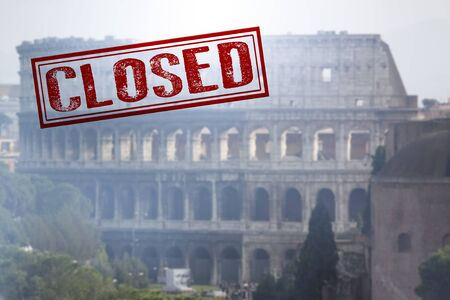 Colosseum closed by a ministerial decree in order to counter the spread of Coronavirus.