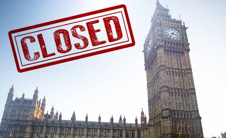 Coronavirus in London, UK. Westminster closed by a ministerial decree in order to counter the spread of Coronavirus.