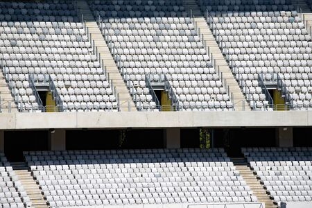 Empty stadium - sport events without people. Imagens