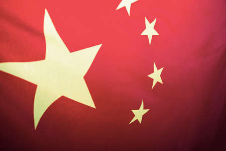 China flag with fabric texture