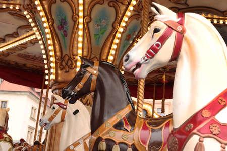 Three horses in the lunapark