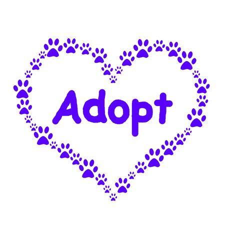Dog Paw Heart Adopt