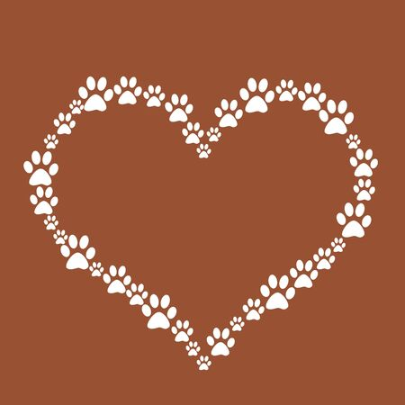 Dog Paw Heart Stock Photo