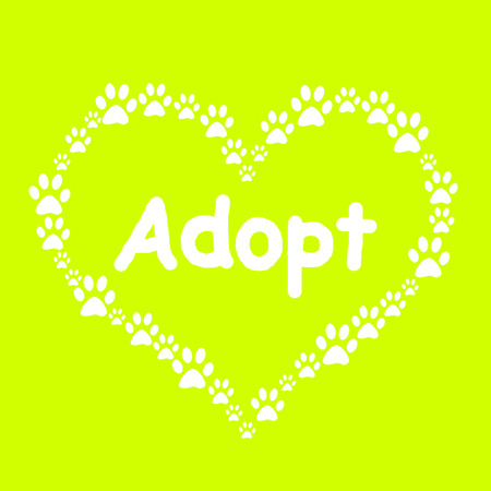 Dog Paw Heart Adopt