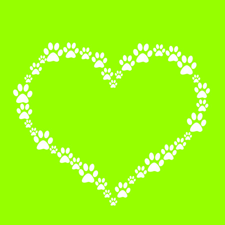 Dog Paw Heart Stock Photo