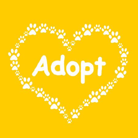 pawprint: Dog Paw Heart Adopt