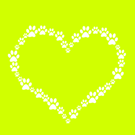 pawprint: Dog Paw Heart Stock Photo
