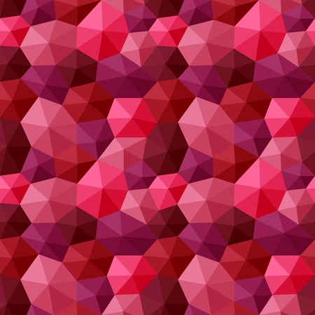 appear: Seamless pattern created with faceted hexagons shaded to appear as three-dimensional shapes pastels colors