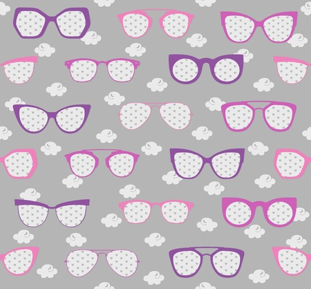 pink and purple sunglasses summer pattern