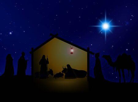 black maria: Virgin Mary , Joseph  and Jesús in Belem Stock Photo