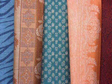 Coloured scarfs 2 Stock Photo