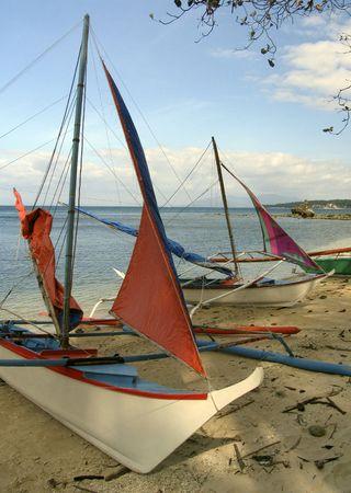 philippine: Philippine fishing boats Stock Photo