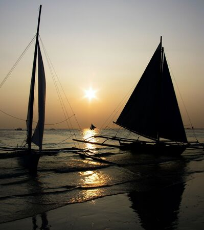 shipper: Boracay sunset Stock Photo