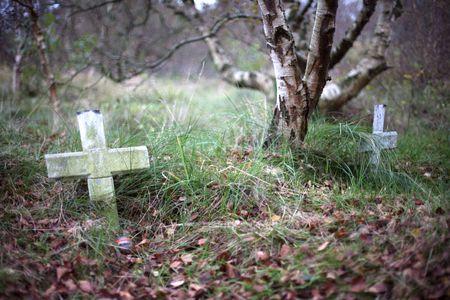 to grieve: Graveyard 2 Stock Photo