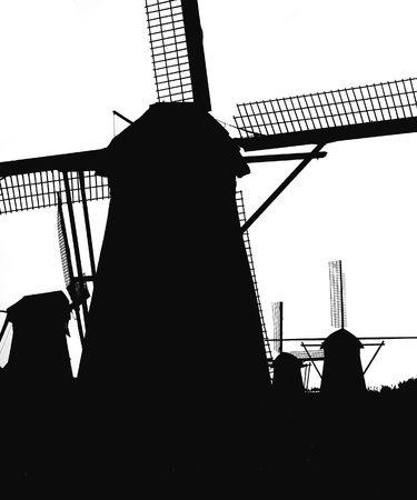 airstream: Dutch windmills in Kinderdijk 5 Stock Photo